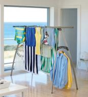 Hills' Portable 120 Clothes Airer, £99.98. 12m drying space and it folds flat. www.clothesairerstore.co.uk