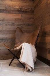 Reclaimed oak wall cladding by Indigenous, www.indigenous.co.uk