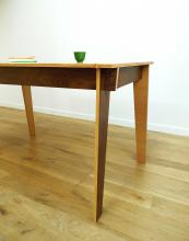 Jeanne reversible table from Darwin's Home in FSC walnut, oak and birch, £984