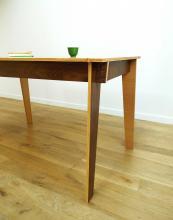 Jeanne reversible table from Darwin's Home in FSC walnut, oak and birch, £984