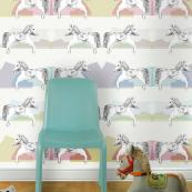 Horsey paper for kids from Louise Body. She uses FSC-certified paper and non toxic water-based inks, £84 per 10m roll, 70cms wide. www.louisebody.com