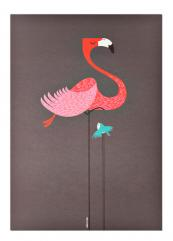 Fun stylised print for a child's bedroom, Flamingo from Colourful Creatures by Dan Adams of I Ended Up Here, available at Abode Living, £20, 42x2.5cm