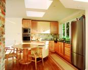 Kitchen made from American maple. Photo by Philip Koomen, courtesy of the American Hardwood Export Council
