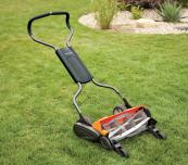 Doors to manual.. Fiskars' StaySharp new manual lawnmower is easy to use. £199.99