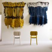 Hand-mae felt wallhangings by Dutch designer-maker Claudy Jongstra