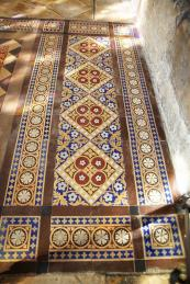 Encaustic and vintage tiles are restored by The Vintage Tile Company. Design service available.