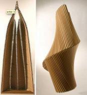US artist Alex Uribe has elevated recycled corrugated cardboard to new heights