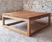 Simple low 3+2 reclaimed oak coffee table by West Country-based Pacha Design, £595. www.madebyhandonline.com
