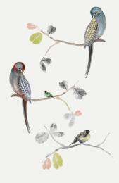 Perched Birds, unframed, by Louise Body, £75, 60x90cms, www.louisebody.com