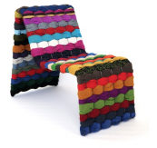 T-Shirt chair by Maria Westerberg from is made from upcycled fabrics. mariawesterbergdesign.com