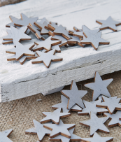 Re-useable wooden stars table confetti, Nordic House