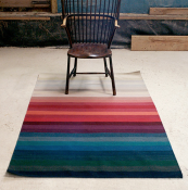Hand-woven in India, wool flatweave Albers rug by Ptolemy Mann, from £550