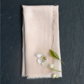 Set of four bamboo silk napkins by organic fabric specialists Lancaster & Cornish, £24