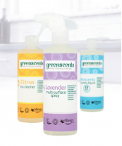 Greenscents cleaning products are made from biodegradable materials and made in Somerset
