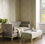 Gilston sofa, from £2,595 and stool, £700, by David Seyfried