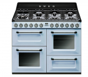 Pastel blue A++ rate TR4110 range cooker from Smeg, from £1,999, www.johnlewis.com