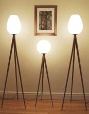 Ternion lamps in oak/walnut/cherry with glass or silk shades, prices from £629, www.broomleymade.co.uk