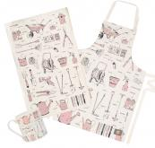 UK designer Victoria Eggs' organic cotton Green Fingered Gardeners collection, pink or green. £9.95 for tea towel. www.victoriaeggs.co.uk