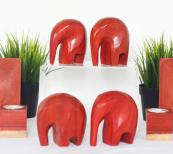 Hand carved by craftspeople in Gabon, these wooden elephants from Nilare are tactile and entrancing. nilare.com