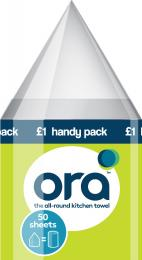 Ora circular paper towels now come in a handy 50-sheet travel pack, £1 a Tesco. Used towels can be composted