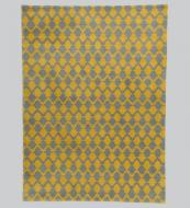 NZ wool Lattice rug hand-knotted in India, 170x260cms, £1,750 www.niki-jones.co.uk