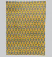 NZ wool Lattice rug hand-knotted in India, 170x260cms, £1,750 www.niki-jones.co.uk