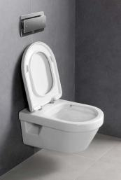 The Omnia loo is rimless and so easier to clean