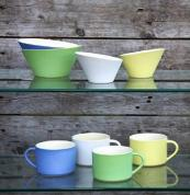 New Sue Ure Maison slipcast stoneware in Sue's trademark soft pastel colours. Prices from around £10. www.sueureceramics.com