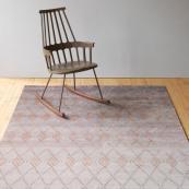 Wool/silk rug by Danish studio Linie. Misty Powder rug, 170x240cms, around £2,200. www.liniedesign.com