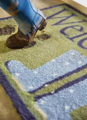 Recycled cotton microfibre barrier mats in lots of designs, perfect for halls, kitchens etc, by Hug Rug. From £39.99