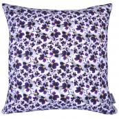 Pansy Dance linen cushion by Laura Loves Design. 42x42cm cover is printed all over with delicate pansies. £65, made in UK, www.lauralovesdesign.co.uk