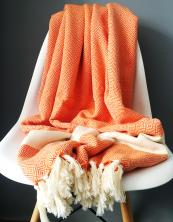 Woven in Turkey from locally-grown wild cotton, Peshtemal diamond -weave Damla blankets and towels are long lasting, versatile and lightweight. Choose from a host of great colours, £25 or £55 from Lüks Linen, www.lukslinen.com