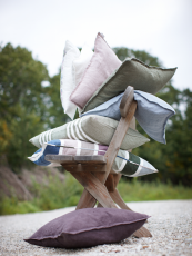 Linen cushions from Scandinavian brand Linum, from www.scandiliving.com