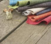Hemp and wool fabric in lovely colours from Camira, www.camirafabrics.com