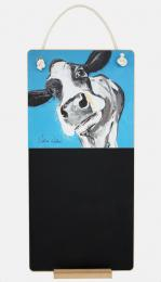 Jenny the Cow drawn by Caroline Walker.  Chalkboards are made from recycled MDF in the UK, £19.95. caroline-walker.co.uk