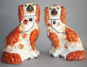 Vintage china spaniels..they're usually bought in pairs. Again, they can look rather splendid..source them on eBay or at antiques fairs