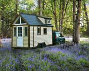 Mark Burton launched Tiny House UK three years ago and has developed a compact lightweight 'house' for the British market with various accommodation levels available. A DIY garden kit house costs around £7,000