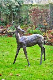 Young Fallow Deer by sculptor Philip Blacker. Sculpt at Kew (18/9-15/10)