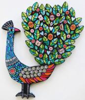 Proud Peacock, ceramic/glass, £595, by mosaic maker Amanda Anderson. Handmade at Kew
