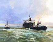 Ocean Lady escorted to Thames Estuary by Fred Beckett