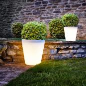 Planters with internal LEDs for stunning effects come nightfall