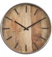 Forester rustic wood and steel wall clock, £66 at Artisanti