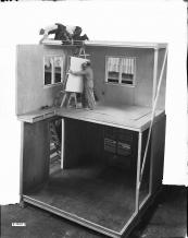 Demo house 1937 - full scale cross section showing prefabricated construction using plywood panels