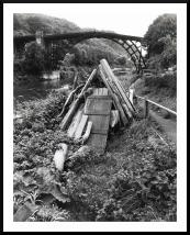 Iron Bridge in Shropshire, 1964. As you'll know, Iron Bridge opened in 1781 and was the first major bridge in the world to be made from cast iron. Photographed with a Hasselblad