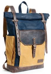 Waxed canvas backpack, with vegetable dyed leather by Innes Bags, on Etsy. £118.20
