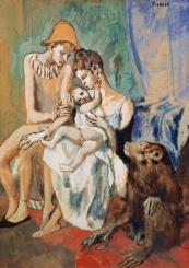 The Acrobat Family, 1905, gouache on paper