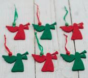 Set of 6 laser cut felt wool angels, £3.50, The Christmas Home at Not On The High Street