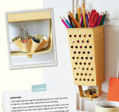 Grater pencil holders