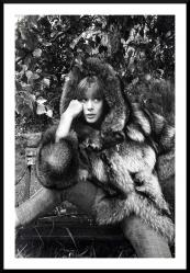 Fur was worn widely in the 1960s.. shot for an international fur magazine