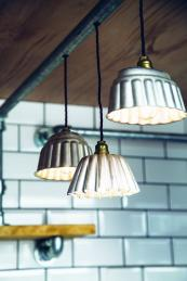 Jelly moulds make great industrial look lampshades